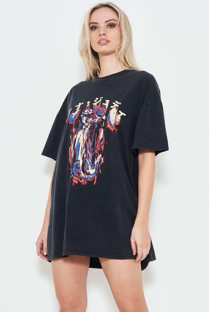 UPTURN TEE DRESS