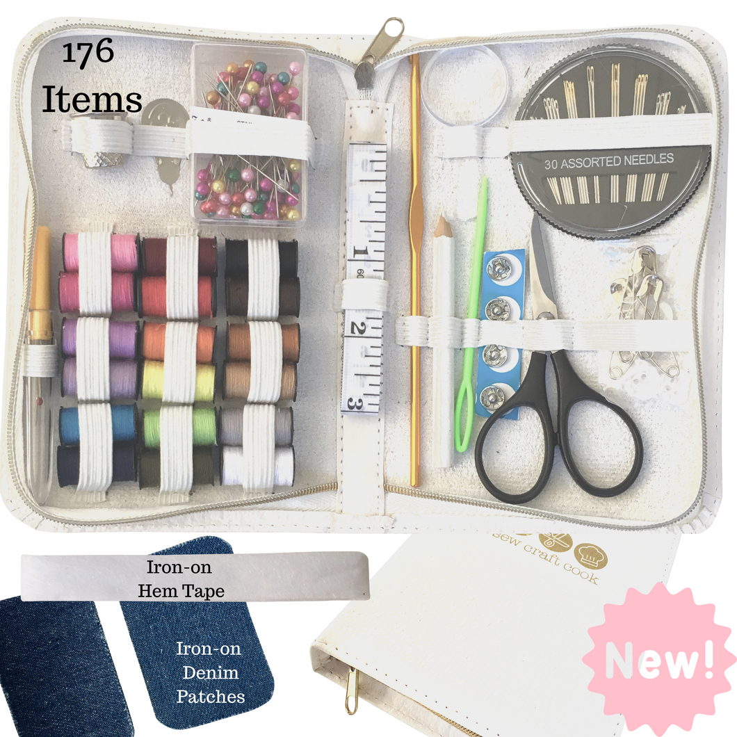 Beginners Sewing Kit Travel Sewing Kit Mini Sewing Kit 176 Pieces Sewcraftcook