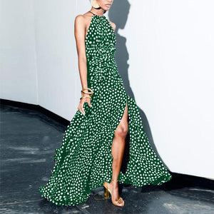 Sexy Wave Point Evening Maxi Dress
