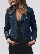 Load image into Gallery viewer, Street Style Zipper Suede Jacket