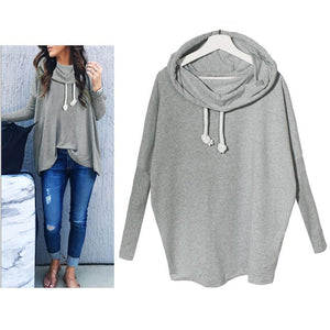 High Collar Long Sleeve Loose Vest