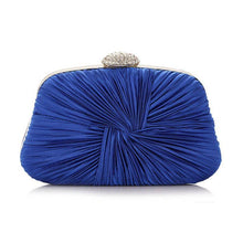 Load image into Gallery viewer, Rhinestone Pleated Chain Evening Clutch Bag