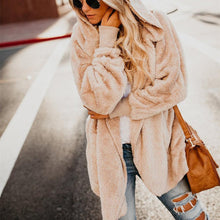 Load image into Gallery viewer, Autumn And Winter Even The Cap Long-Sleeved Cardigan Pocket Warm Jacket