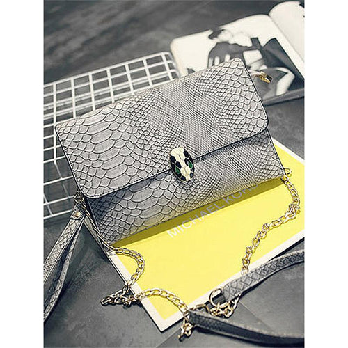 PU Animal Printed Chain Shoulder Bags