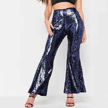 Load image into Gallery viewer, Sexy Club Sequins With Flared Pants