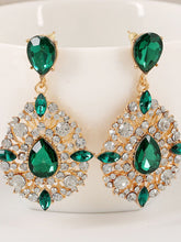 Load image into Gallery viewer, Extravagant Rhinestone Water Drop Earrings