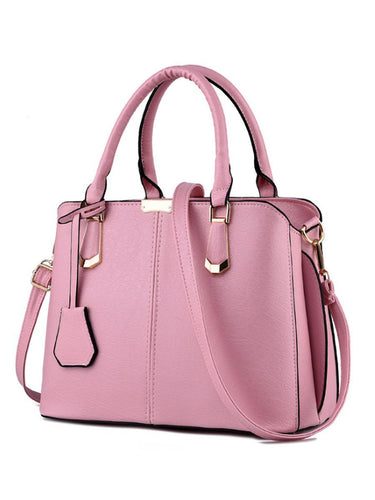Classic Two Ways Pu Shoulder Bag