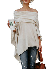 Load image into Gallery viewer, Off Shoulder  Plain Long Sleeve T-Shirts
