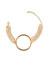 Load image into Gallery viewer, Gold Circular Pendant Chain Bracelet