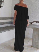 Load image into Gallery viewer, One Shoulder  Plain Maxi Dresses