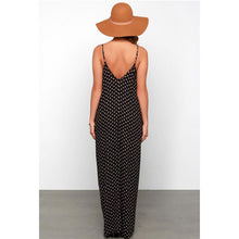 Load image into Gallery viewer, Bohemia Polka Dot Strap Beach Vacation Dress With Pockets