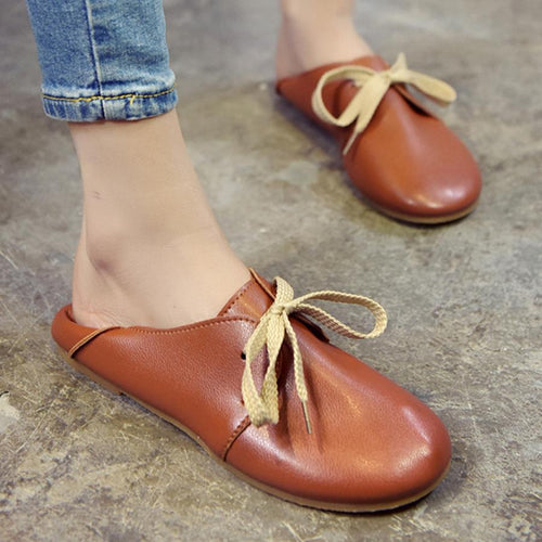 Plain  Flat  Criss Cross  Round Toe  Casual Flat & Loafers