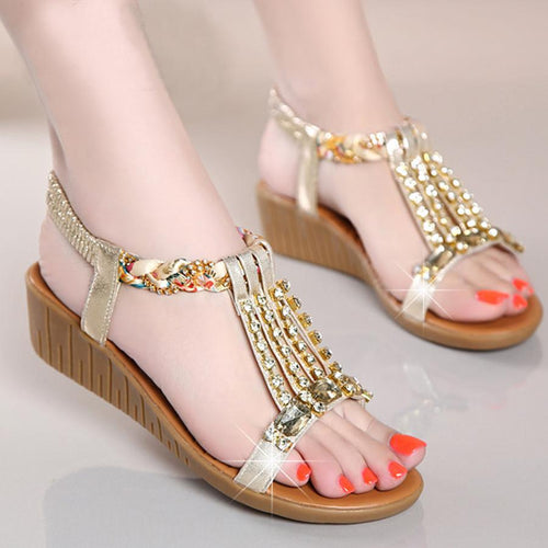 Plain  Low Heeled  Ankle Strap  Peep Toe  Casual Date Sandals