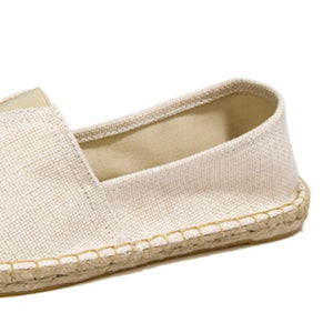 Flat  Linen  Round Toe  Casual Flat & Loafers