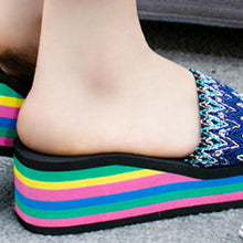 Load image into Gallery viewer, Bohemian  High Heeled  Peep Toe  Beach Casual Slippers