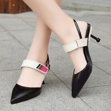 Load image into Gallery viewer, Color Block  Stiletto  High Heeled  Point Toe  Date Office Pumps