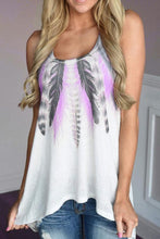 Load image into Gallery viewer, Round Neck  Asymmetric Hem  Tie Dye  Vests