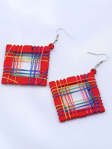 Gradient Wood Earrings For Women