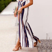 Load image into Gallery viewer, Loose-Striped Wide-Leg Pants