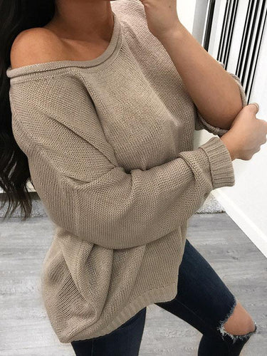 Solid Color Loose Home Comfort Sweater