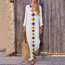 Load image into Gallery viewer, Printed Geometric V-Neck Maxi Dresses