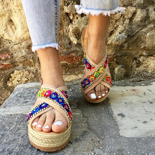 Rome Wind Flat Bottomed Handmade Sandals