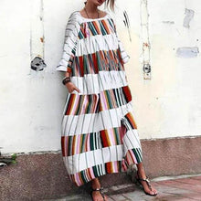 Load image into Gallery viewer, Round Neck  Printed Oversized Casual Maxi Dress