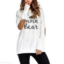 Load image into Gallery viewer, Round Neck Printed Suede Patchwork Long Sleeve T-Shirts