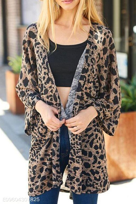 5334d5741193 ... Load image into Gallery viewer, Fashion Vacation Casual Loose Leopard  Print Long Sleeve Cardigan