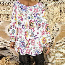 Load image into Gallery viewer, V Neck Floral Printed Lantern Sleeve Blouse