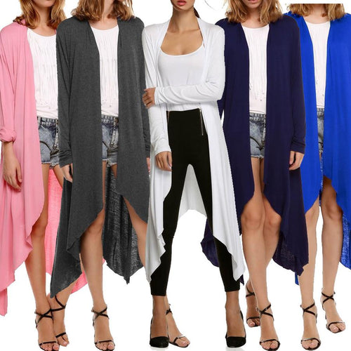 Cardigan Long Sleeve Trench Coat