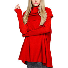 Load image into Gallery viewer, Turtle Neck Long Batwing Sleeve Fashion Sweaters