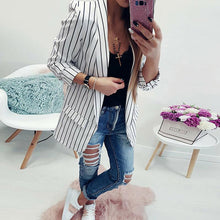 Load image into Gallery viewer, Fashion Stripes Long Sleeve Casual Blazers