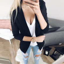 Load image into Gallery viewer, Lapel Long Sleeve Plain Casual Blazers