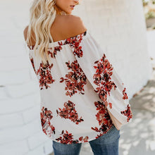 Load image into Gallery viewer, Sexy Off Shoulder Floral Printed Long Lantern Sleeve Blouses