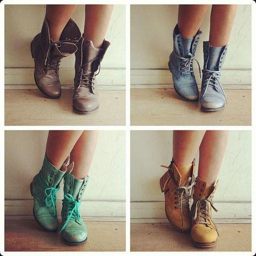 Fashion Plain Blinding Pu Short Boots