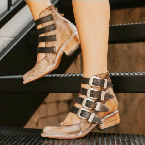 2018 New Belt Buckle Shallow-Mouth Single Shoes