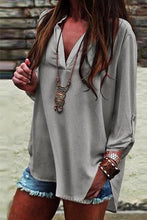 Load image into Gallery viewer, Casual Elegant Fashion Loose V Collar Long Sleeve Blouse