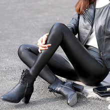 Load image into Gallery viewer, PU Matte Stretch Leather Pants