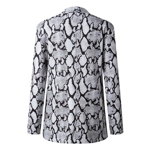Fashion Animal Printed Long Sleeve Blazers