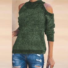 Load image into Gallery viewer, Cold Sleeve Crew Neck Sweater Slim Knitwear