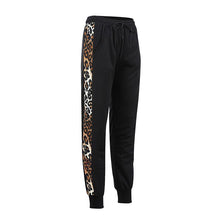 Load image into Gallery viewer, Elastic Waist Leopard Printed Patchwork Casual Pants