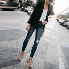 Load image into Gallery viewer, Fashion Lapel Plain Casual Blazer