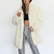 Load image into Gallery viewer, Lapel Loose Long Sleeve Faux Fur Fashion Coats