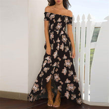 Load image into Gallery viewer, Sexy Off Shoulder Floral Printed Vacation Dress