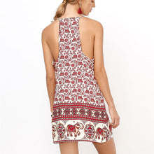 Load image into Gallery viewer, Bohemia Style Floral Printed Vacation Dress