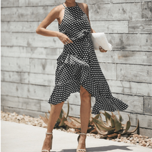 Load image into Gallery viewer, Spring And Summer Retro Irregular Dresses With Wave Points