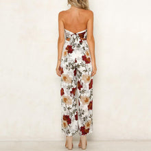 Load image into Gallery viewer, Spring And Summer New Sexy Shoulder-Exposed Printed Couplet Pants