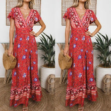 Load image into Gallery viewer, 2019 Behemia Style Floral Printed Vacation Dress