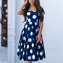Load image into Gallery viewer, Elegant Printed Wave Dress